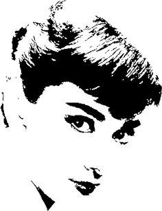 Audrey Hepburn silhouette (613×800)