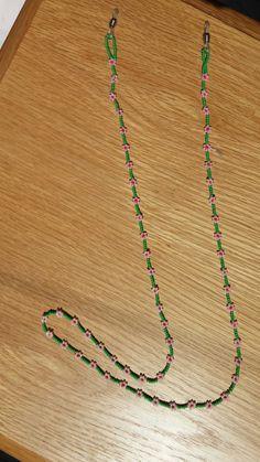 Gözlük ipi Seed Bead Necklace, Seed Bead Bracelets, Glass Necklace, Beaded Necklace, Seed Bead Flowers, Beaded Flowers, Knit Bracelet, Beaded Lanyards, Neck Chain