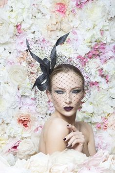 Philip Treacy London | Buntal Ribbon | Black and Headpieces | LOVEHATS.COM