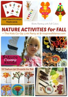 26+ Fall Activities for Kids - Apples and Nature Inspired - + The Kids Co-Op Link Party at B-InspiredMama.com #kids #autumn #kidscrafts #kbn