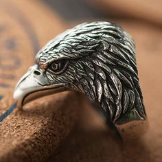 Bring the emperor in you with this unique piece of eagle head ring. Gift it or wear it on your own, this eagle head will make you stand high.  Men's Sterling Silver Eagle Head Ring: https://www.jewelry1000.com/On-Sale/Mens-Sterling-Silver-Eagle-Head-Ring  #jewelry1000 #sterlingsilverjewelry #silverringformen