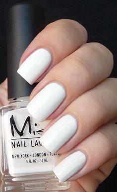 white nail polish #w