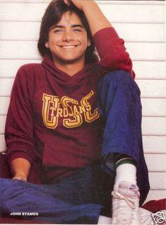 JOHN STAMOS pinup – Big smile in jeans!