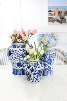 Ginger Jars with Flowers!