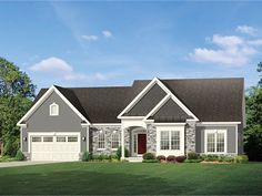 Ranch Style House Plan - 3 Beds Baths 2006 Sq/Ft Plan ePlans Ranch House Plan – Deep Garage For Extra Storage – 2006 Square Feet and 3 Bedrooms from House Plans One Story, Ranch House Plans, New House Plans, Dream House Plans, Small House Plans, Dream Houses, One Level House Plans, Story House, Colonial Style Homes