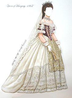 Vestido Emperatriz Isabel de Austria 3