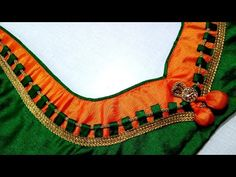 Blouse Designs High Neck, Patch Work Blouse Designs, Simple Blouse Designs, Stylish Blouse Design, Back Neck Designs, Bridal Blouse Designs, Cotton Saree Designs, Churidar Neck Designs, Blauj Design