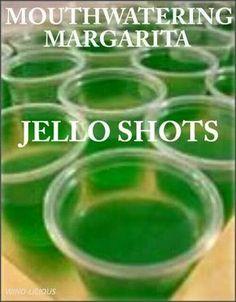 Margarita jello shots Tequila Jello Shots, Yummy Jello Shots, Lime Jello Shots, Cherry Jello Shots, Jello Shot Cups, Best Jello Shots, Making Jello Shots, Jello Pudding Shots, Jelly Shots