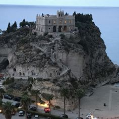 Dusk, Church on the Island, Travelling Tips Tropea Italy Tropea Italy, Calabria Italy, Sardinia Italy, Us Travel Destinations, Places To Travel, Places To Go, Travel Around The World, Around The Worlds, Tahiti