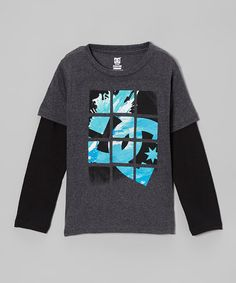 Another great find on #zulily! Charcoal Heather Coop Slider Layered Tee by DC #zulilyfinds