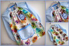 Bata escolar hecha con tela de Inkalily Fabrics