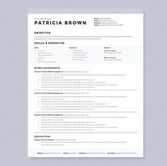 check out clean resume template pkg by jannalynncreative on - Template Of Resume
