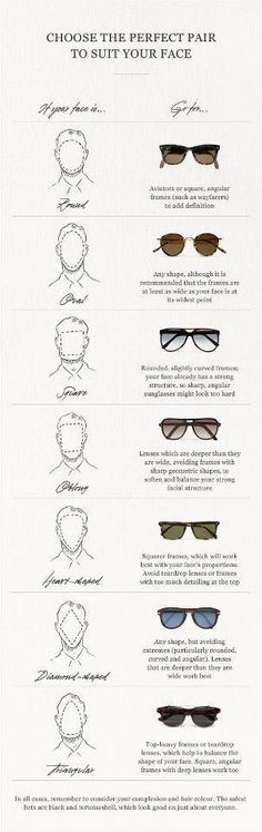 O-O Men's eyewear fashion to fit your face shape #eyewear #eyeglasses