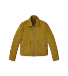 TOM FORD Cashmere Nubuck Unlined Classic Collared Blouson. #tomford #cloth #blouson