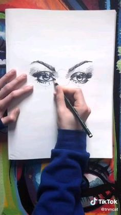 Art Drawings Sketches Simple, Pencil Art Drawings, Realistic Drawings, Diy Canvas Art, Art Sketchbook, Art Tutorials, Drawing Tutorials, How To Draw Anime Eyes, Draw Eyes