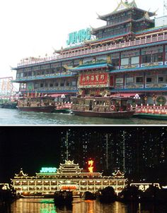 Floating Restaurants Around the World  Jumbo Floating Restaurant, Hong Kong