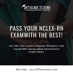 Prepare to Pass with the Most Comprehensive NCLEX Review! Sign up for our Monthly Plan Over 100+ Video Lectures, Companion Worksheets, 5-min concepts 1600+ Amazing Qbank and much more! Get started now - www.247nursetutors.com Nclex Questions, Nclex Exam, Monthly Plan, Nursing Students, Get Started, Worksheets, The 100, Sign, How To Plan