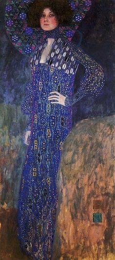 Gustav #Klimt, 'Portrait of Emilie Floge (1902) # ArtNouveau, #Vienna