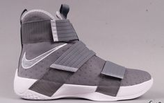 Detailed Images Of The Nike LeBron Zoom Soldier 10 Cool Grey