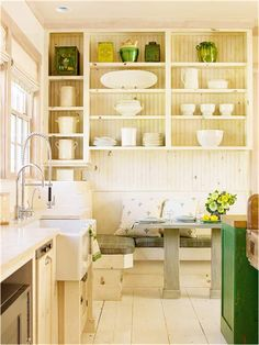 couch or seating area built in/around kitchen area  Key Interiors by Shinay: Cottage Kitchen Ideas