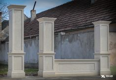idei garduri marmura,granit si travertin GVB Stone Division Wedding Couples, Division, Garage Doors, Stone, Outdoor Decor, Home Decor, Travertine, Rock, Decoration Home
