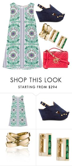 """Untitled #2344"" by meryem-mess ❤ liked on Polyvore featuring Tory Burch, Chloé, Vita Fede, Lizzie Mandler and Salvatore Ferragamo"