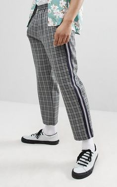 On my wishlist : Milk It cropped check trousers with side stripe from ASOS #ad #men #fashion #shopping #outfit #inspiration #style #streetstyle #fall #winter #spring #summer #clothes #accessories