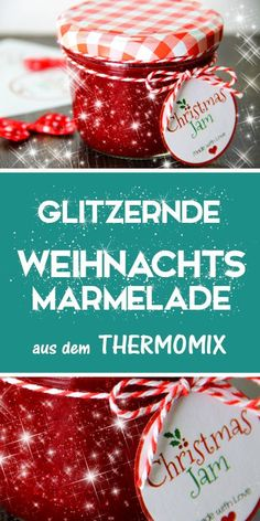 Ich liebe alles was Glitzert, geht's dir auch so? Dann habe ich hier genau das richtige. Und zwar eine mega leckere Weihnachtsmarmelade mit essbarem Glitzer. Genial oder? Eine tolle Geschnekidee zu Weihnachten. Denn Geschenke aus der Küche kommen immer gut an. Nicht nur zu Weihnachten. Weitere tolle Rezepte und Geschenke aus dem Thermomix findest du auf meinem Blog, also schau unbedingt mal rein :-)