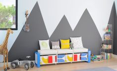 Image result for playroom accent wall