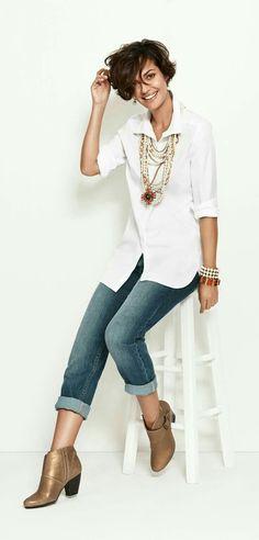 Casual Office Attire Trends For Women 2017 4 50 Fashion, Fashion Over 40, Work Fashion, Autumn Fashion, Fashion Trends, Classy Fashion, Fashion Spring, Fashion Ideas, Chicos Fashion