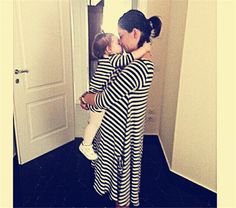 Casual Loose Striped Long Sleeve Mother Daughter Dress 👍 Refund & Keep item if you are not happy with the product! Matches Fashion, Stripes Fashion, Matching Family Outfits, Striped Dress, Striped Style, Mother And Child, Daughter, Casual, Cotton