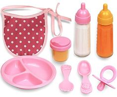 Click N Play 8 Piece Baby Doll Feeding Set with Accessories. Toys for Girls, Toys 1 year old, this is toys