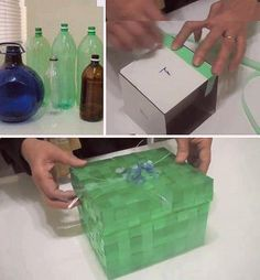 Caixa de presentes reciclada!