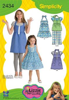 Simplicity Sewing Pattern 2434 Child 's and Girl's « Dress Adds Everyday