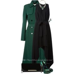 """Emerald & Black"" by stay-at-home-mom on Polyvore"