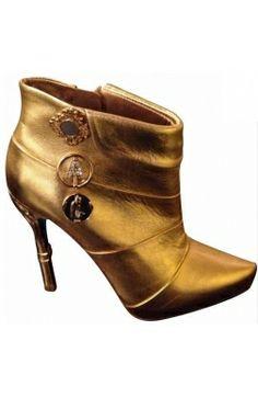 #annadelrusso Anna del Russo pour H&M Low Boots Dorées 39 Neuves #kollas