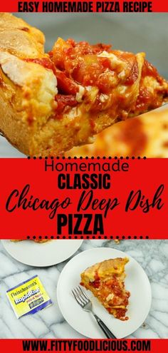 50 minutes · Serves 4 · Family pizza night is always a hit, and why not bake a delicious pizza crust with your family? With Fleischmann's® Yeast you can make easy and delicious classic Chicago Deep Dish Pizza right in the… Deep Dish Pizza Pan, Deep Dish Pizza Recipe, Pizza Recipes, Cooking Recipes, Savoury Recipes, Cheese Recipes, Sauce Recipes, Lunch Recipes, Dinner Recipes