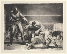 """The White Hope"" by George Bellows (American) Lithograph (Printed by Bolton Brown)"