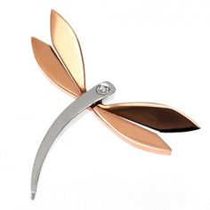 Stainless Steel RoseGold PVD Dragonfly Pendant