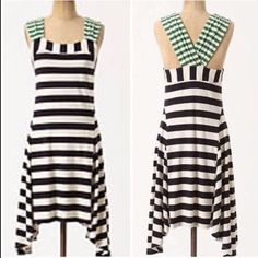 Anthropologie HWR Split Stripes dress Perfect casual dress, soooo comfortable! Excellent condition Anthropologie Dresses