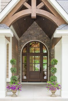 Gorgeous front door from Real Fit Housewife: Welcome to my Home: Our Little Slice of Heaven