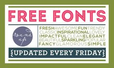 10 new free fonts EVERY Friday!!  | tons of font categories to choose from!  LOVE these! | www.moritzfineblogdesigns.com