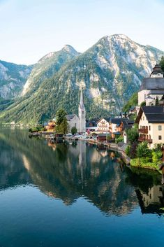 This photo is from Austria. I would love to go to Austria because of the beautiful landscape. Also, I love the history in Austria and the Sound of Music was set here. Beautiful Places To Visit, Oh The Places You'll Go, Places To Travel, Visit Austria, Austria Travel, Hallstatt Austria, Salzburg Austria, Us Destinations, Romantic Destinations