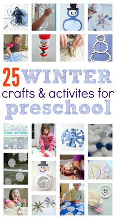 Great list of winter crafts for preschool . Winter sensory play ideas and more for preschool! Great list of winter crafts for preschool . Winter sensory play ideas and more for preschool! Winter Activities, Christmas Activities, Preschool Activities, Winter Crafts For Kids, Winter Kids, Winter Crafts For Preschoolers, 2016 Winter, Preschool Art, Preschool Winter