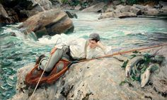 On His Holidays, Norway, 1901 by John Singer Sargent (American 1856–1925)
