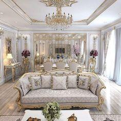 Stunning Ideas To Decorate Stylish Living Room Luxury Rooms, Luxury Home Decor, Luxury Interior Design, Luxury Living, Interior Decorating, Interior Paint, Decorating Tips, Living Room Grey, Living Room Decor