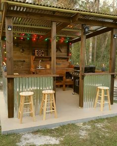 I built this one last year. - John Lawing - I built this one last year. I built this one last year. Outdoor Grill Area, Outdoor Grill Station, Diy Outdoor Bar, Outdoor Kitchen Bars, Backyard Kitchen, Outdoor Kitchen Design, Grill Gazebo, Pergola Patio, Outdoor Bar Areas