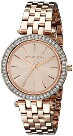 33d82286d9c4 Michael Kors Mini Darci Crystals Rose Gold Tone MK3366 Ladies  Watch