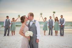 mint-ceremony-bridal-party-destin-florida-beach-ceremony