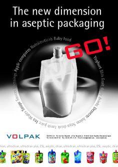 Página publicidad presentación de una nueva envasadora. 2001. Volpak - Diseño de Artimaña - www.artinet.net